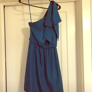 One shoulder semi-formal dress